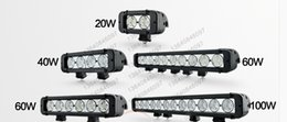 Wholesale Cheap Cree Driving Lights - cheap 8 inch 40W 10W*4PCS Waterproof CREE LED Light Bar Working Lights Flood Spot Beam for Offroad Tractor Trucks Boat Driving Light
