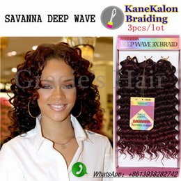 Wholesale Synthetic Water Wave - deep wave braiding hair synthetic hair extensions water wave bohemian twist braids synthetic hair crochet braids deep twist 3pcs lot