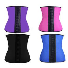 Wholesale Black Corset Steel Boning - Corset Shapewear Women Shapewear Steel Boned Waist Trainer Sport Waist Cinchers Underbust Waist trainers Corset Belt S-3XL