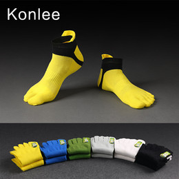Wholesale Toe Socks Men Athletic - Hot Sale Fashion Men's Five Toes Socks Cotton Short Tube Mesh Five-Toe Socks For Men Sports Running Breathable Elastic Sock