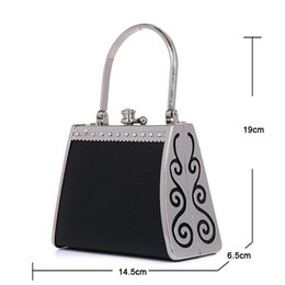 Wholesale Princess Work - Wholesale- Mini Night Princess Makeup Handbag Nightclubs Supplies Professional Women Work Day Clutches Packages Party Wedding Evening Bags