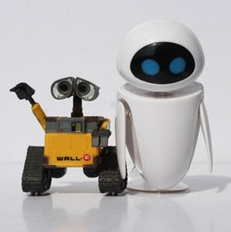 Wholesale Eve Wall - Free Shipping Wall-E Robot Wall E & EVE PVC Figurine Collection Model Toys Dolls 6 cm