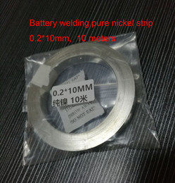 Wholesale Pure Nickel Strip for Scientific research battery welding Size mm about meters