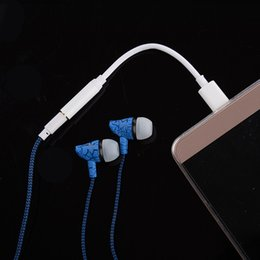 Wholesale Earphone Audio Headset Adapter - For Type-C To 3.5mm Plug AUX Earphone Headset Audio Mic Adapters Jack Connector Cable Headphone Switch Covertor Cords Letv2