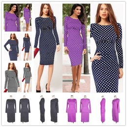 Wholesale Woman Dresses Twinset - 2017 New Womens Elegant Faux Twinset Peplum Stand Collar Patchwork Wear to Work office Business Party Bodycon Sheath Dress