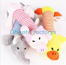 Wholesale Pets Pigs - Pet Puppy Chew Squeaker Squeaky Plush Sound Pig Elephant Duck For Dog Sound Toys