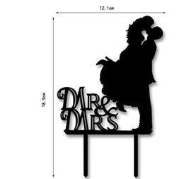 Wholesale Bride Groom Cake Toppers - 10Pcs Mr & Mrs Acrylic Wedding Cake Toppers Accessories Bride And Groom Wedding Party Cake Stand Decorations