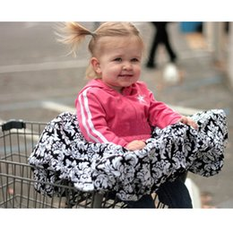 Wholesale High Chair Seat Covers - Shopping Cart Covers for Baby SEAT Kid High Chair Infants dining chair Cover Bees patterns