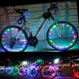Wholesale Led Lights For Bike Spokes - Wholesale- Bicycle LED Lights Bike Strip Safety Night Flashing For Cycling Spoke Wheel Lamp
