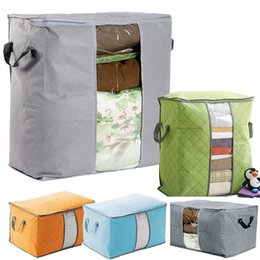 Wholesale Bamboo Blankets Wholesale - Big Capacity Protable Organizer Bamboo Charcoal Pouch Holder Blanket Pillow Underbed Popular Cool Storage Bag Box