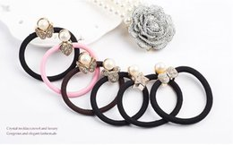 Wholesale New Star Hair - New Women Rhinestone Pearl Elastic Hair Band Butterfly Heart Micky Star Bow Tie Hair Accessories for Wholesale Free Shipping