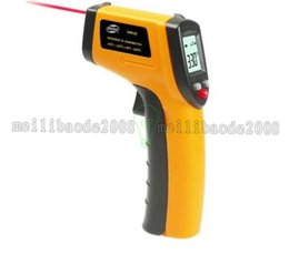 Wholesale Laser Thermometers Wholesale - Non-Contact LCD IR Laser Infrared Digital Temperature Thermometer Gun GM320 with retail pacakge free shipping MYY