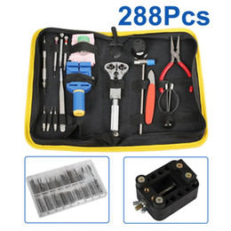 Wholesale Watch Tool Kit Case - Wholesale-2016 Excellent Quality Lowest Price 288 Pcs Watch Repair Tool Kit Case Opener Link Remover Spring Bar & Carrying Case