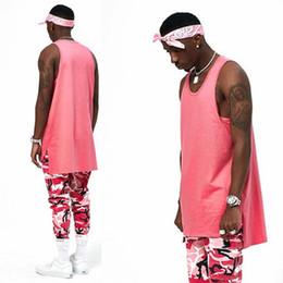 Wholesale Loose Cotton Tanks - High quality 2017 new hot loose vest o-neck tank tops clothes plain plus men women fashion Casual Vest Cotton Free Shipping