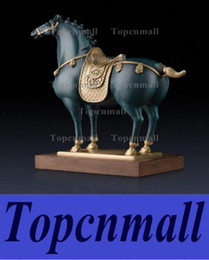 Wholesale Chinese Horse Bronzes - Royal Tang Dynasty Horse Copper handicrafts animal Household Chinese crafts gift furnishing articles room Decoration Ornaments