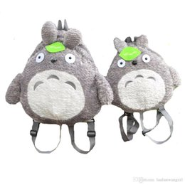 Wholesale Totoro School Backpack - My Neighbor Totoro Backpack Plush Bag Shoulder School Cartoon Stuffed Animal Backpack Totoro Children Mochila Escolar Infantil