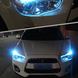 Wholesale Lancer Led - 10 t10 2 X T10 LED W5W Car LED Auto Lamp 12V Light bulbs with Projector Lens for mitsubishi lancer 10 asx