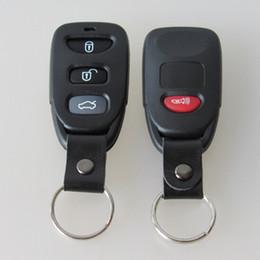 Wholesale Hyundai Keyless Remote Shell - New 3+1 button replacement key blank FOB remote keyless entry shell key case for Hyunda Elentra Tucson Santa Fe 20pcs lot