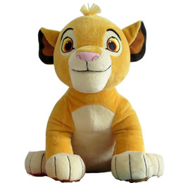 Wholesale Plush Soft Lion - New Good Quality Cute 1pcs Sitting High 26cm Simba The Lion King Plush Toys , Simba Soft Stuffed Animals doll For Children Gifts