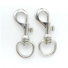 Wholesale Snap Swivels Wholesale - Solid brass dog swivel snap hook 1312# 36.5g round shape zinc alloy lobster clasps supplier