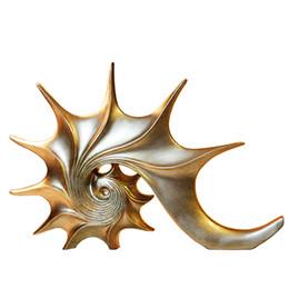 Oro europeo stile Conch resina artigianato decorazioni per la casa mare unghie TV cabinet / armadietto del vino artigianato arredamento per la casa regali di nozze da