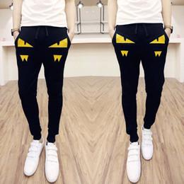 Wholesale Harem Style - Wholesale- Brand Men Pants 2016 New Little Monster Korean Style Casual Slim Fit Mens Joggers Pants Patchwork Men Harem Pants