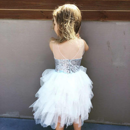 Wholesale Wholesale Childrens Tutu Clothing - New 2017 Baby Girls Lace Sequins Dresses Kids Girls Princess tutu Dress Babies Pom Pom Party Dress Childrens Summer clothing