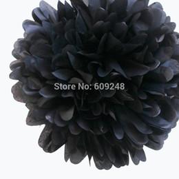 """Wholesale Large Paper Flowers Decorative - estive Party Supplies Decorative Flowers Wreaths 10pcs 14""""(35cm) Large Halloween Party Nursery Decorations Black Tissue Paper Pom Po..."""