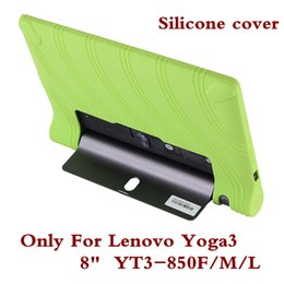 "cover back lenovo tab Coupons - Wholesale- Silicone Tablet PC Case Cover For Lenovo Yoga Tab3 YT3 850 YT3-850F YT3-850M YT3-850L Back Shell 8"" For Yoga Tab 3 YT3 850F Pen"