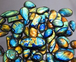 Wholesale Labradorite Oval - 11pcs NATURAL MULTI FIRE LABRADORITE WHOLESALE LOT CABOCHON GEMSTONE