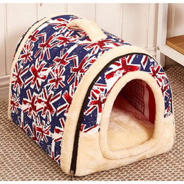 Wholesale Travel Bags For Cats - Multi-fuctional Dog Cat House Detachable and Washable With Mat Foldable Pet Dog Bed Cat Bed House For Small Medium Dogs Travel Pet Bed Bag