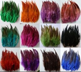 "Wholesale Wedding Pheasant Feathers - Sale 50pcs   lot high quality pheasant feather, 4-5 ""  8-13cm, Natural color and Dyed Feathers, DIY Jewelry Accessories JM-01"