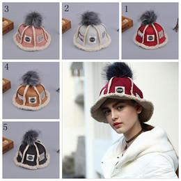 Wholesale Korean Street Fashion - winter adult children's hat baby hats Korean style lambskin knitted hat ladies basin cap Fisherman's hat YYA524