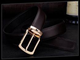 Wholesale Male Luxury Jeans - High quality men's genuine leather belt designer belts men luxury strap male belts for men fashion pin buckle for jeans