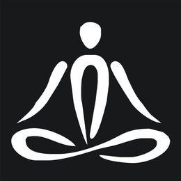 Wholesale Animal Notebooks - Yoga Meditation Figure Vinyl Bumper Windshield Sticker Car Notebook White Decal