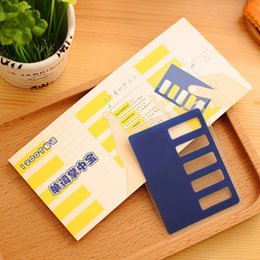 Wholesale Sweet Notebook - Wholesale- New Sweet Candy Color Block Long Design Vocabulary The English Notebook BookFoldable Baffle Transparent Bag 40 Sheets