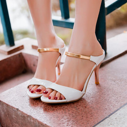 Wholesale Wholesale Plus Size Shoes - Wholesale-Tenis Feminino New Arrival Big Plus Size Shoes Women Sandals 2016 High Heels Sapato Feminino Summer Style Chaussure Femme X-1