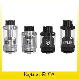 Wholesale Dual Coil 6ml - Authentic Vandy Vape Kylin RTA With 2ML 6ML Extended Glassl Rebuidable Tank Atomizer Fit Both Single And Dual Coil 100% Genuine 2250001