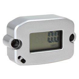 Wholesale Generator Types - LCD Screen Display Completely Waterproof Inductive Type Engine RPM Tach   Hour Meter for Motorcycle   Boat   Generator OUT_135