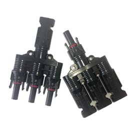 Wholesale Mc4 Connectors For Pv - 20 pairs 3 to 1 MC4 branch solar connector, IP67 waterproof PV branch plug for pv panels