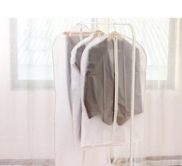 Wholesale Translucent Cloth - Wholesale Stock New Arrivals Translucent Clothing Dust Cover High Quality Cloth Garment Suit Dust Proof Cover Storage Bag Organizer Bag