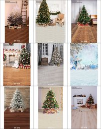 Wholesale Christmas Backdrops For Photography - Wholesale Vinyl Props 5X7ft Christmas Tree Floor Scenic Photos Backdrops Camera For Portrait Backgrounds Computer Printed Photography 566