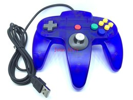Wholesale Nintendo 64 Controller Joystick - Hot sale USB Game Wired Controller Controlpad Joystick Gamepad Gaming For Nintendo for Gamecube for N64 64 Style PC for Mac Black