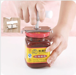 Wholesale Tin Can Bottle Opener - Kitchen Screw Cap Bottle Wrench Free Size Suit Any Cans, Stainless Steel Can Tin Openers and Bottle Cap Opener Wrench Operated KKA1886