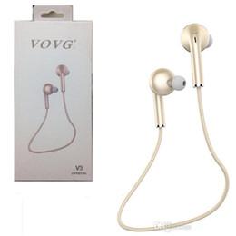 Wholesale Original V3 Cell Phone - Original VOVG V3 Wireless Bluetooth Headphone Sport EarHook Stereo Sports Earphone Wich Mic Music Running Headset for phone