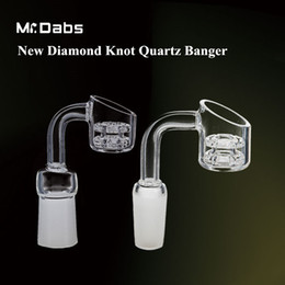 Wholesale Nail Diamond Style - New Style Double Stack Diamond Knot Quartz Nail Quartz Banger Nail 10mm 14.4mm 18.8mm for bongs at mr dabs