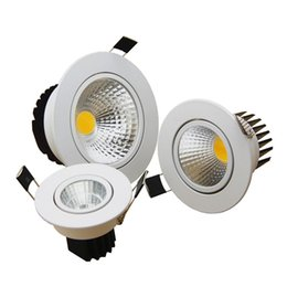 Wholesale Super Bright Ceiling Light - New Super Bright LED Dimmable Downlight COB 5W 7W 9W 12W LED Recessed Ceiling Spot Light LED Decoration Ceiling Lamp AC85-265V