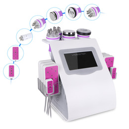Wholesale Hot Radio - New 6 In 1 Ultrasonic Cavitation Vacuum Radio Frequency Lipo Laser Slimming Machine for Spa Hot Sale