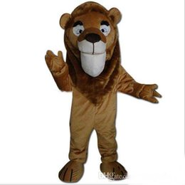 Wholesale Lion Mascot Costumes For Sale - 2017 new Hot sale brown colour lion mascot costume for adults ems free shipping