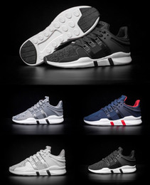 Wholesale Fasion Shoes - Fasion EQT Support ADV Boost Mens Running Shoes Black white blue GS Primeknit grey Core Sneakers Sports Shoe casual shoes eur 40-45